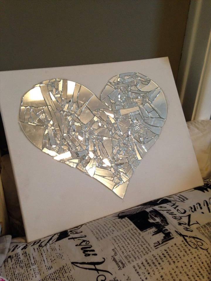 Broken mirror art! Supplies needed: mirror