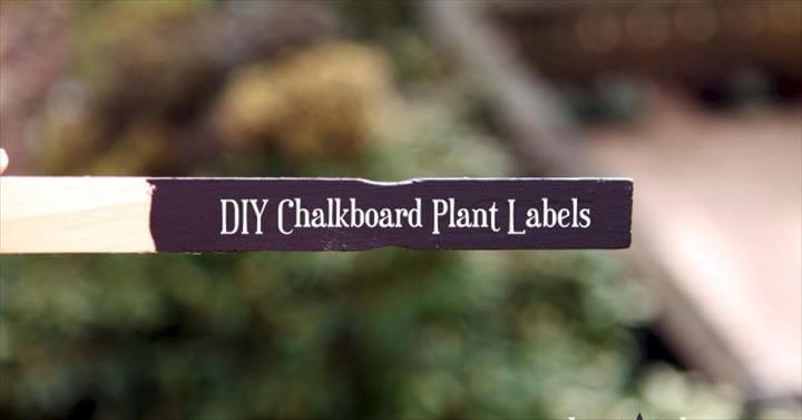 chalkboard paint plant markers, chalkboard paint, crafts, gardening