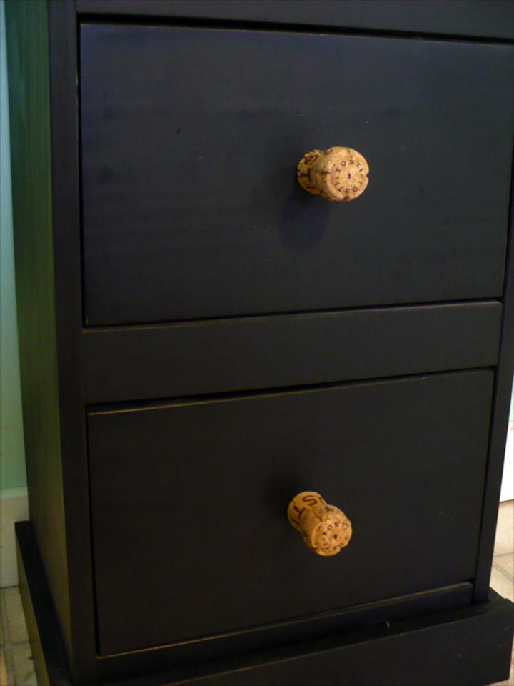 Recycled Champagne Cork Drawer Knobs