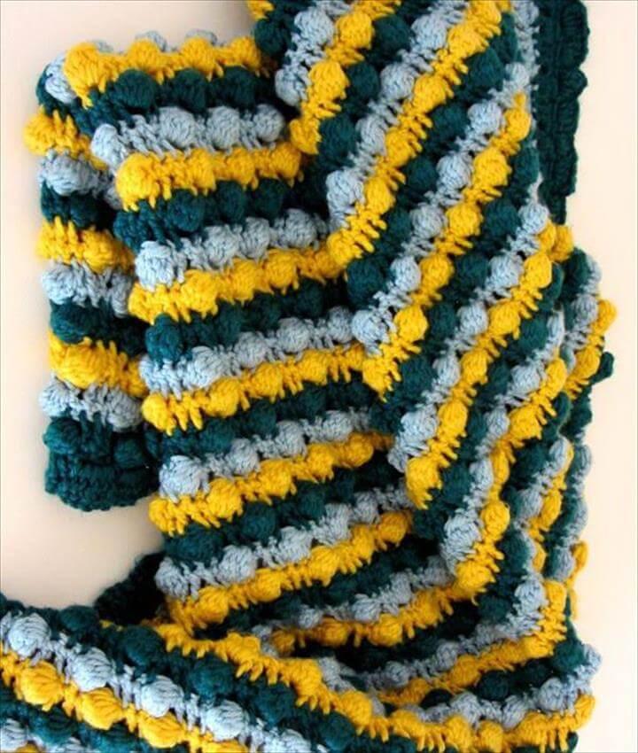 Crochet Baby Bobble Blanket