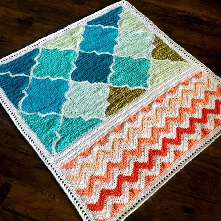 Pattern - BabyLove Brand Trellis and Chevron Blanket - Crochet Pattern/Tutorial - rectangle throw