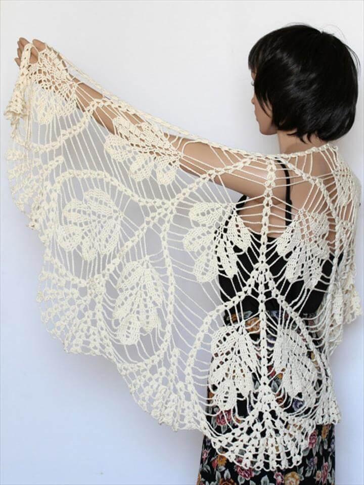Ivory off white shawl lace knit shawl Wedding shawl Wraps shawls