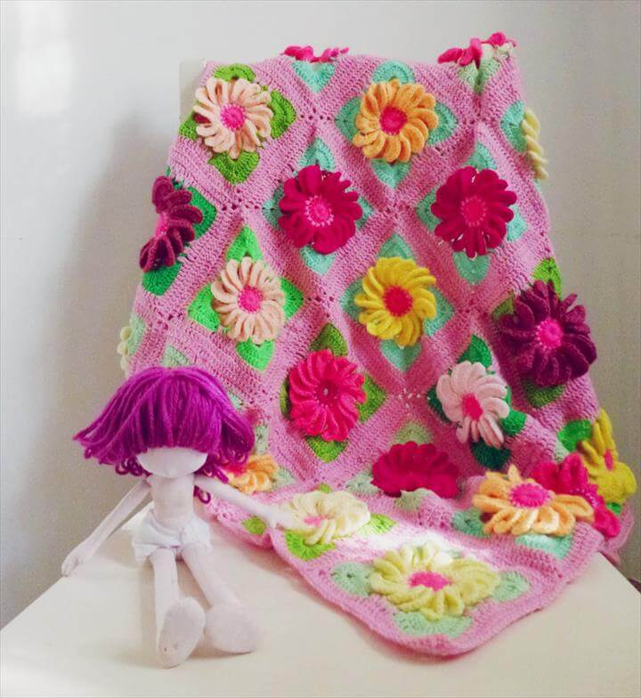 Crochet Flower Blanket Patterns