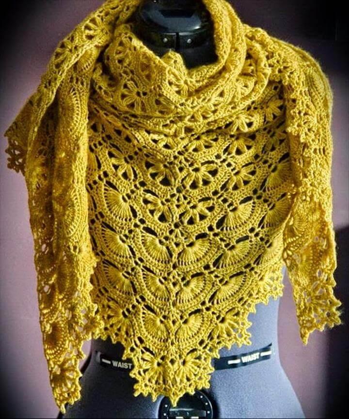 Crochet Shawl Pattern - Maia Shawl - Fabulous