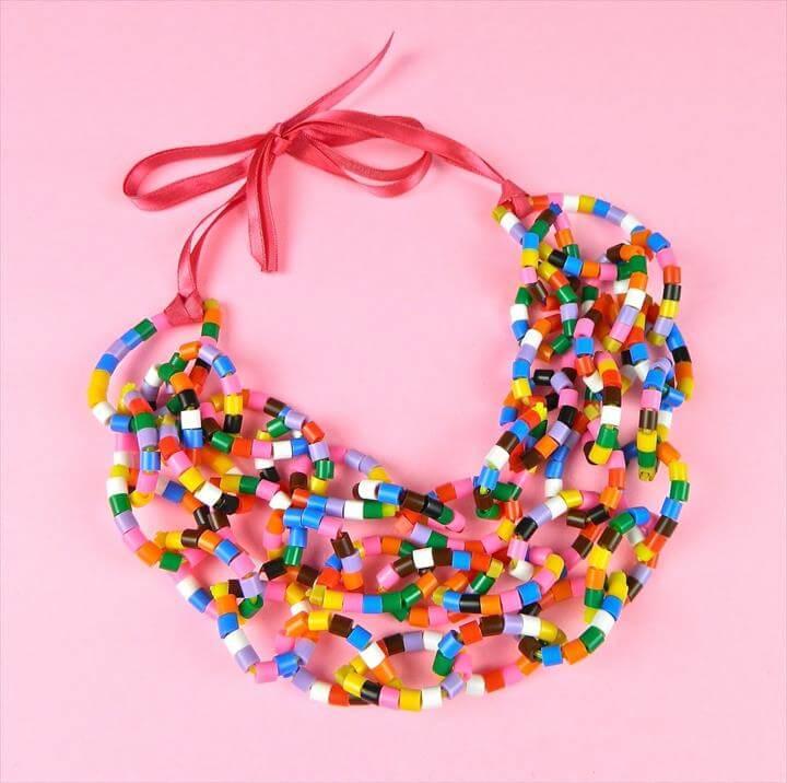 Beaded Zip Tie Necklace Tutorial