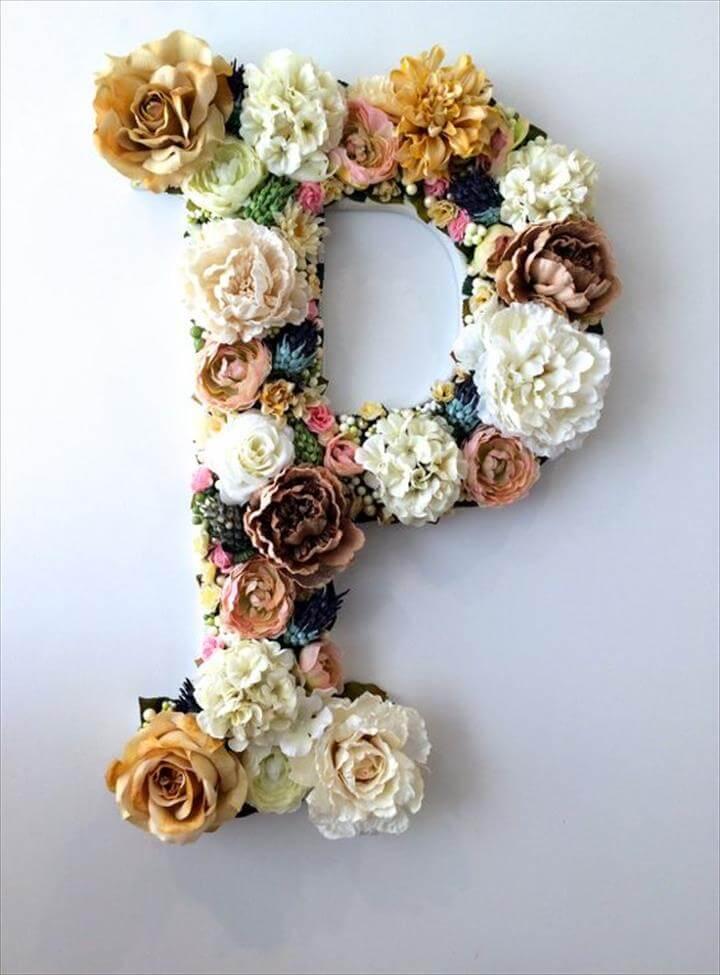 DIY Flower Letter Tutorial