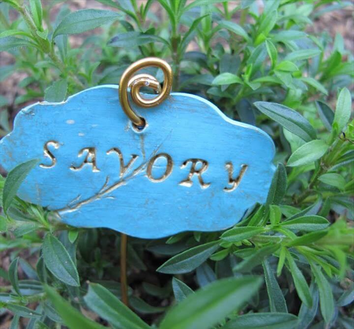 DIY Garden Markers using Polymer Clay