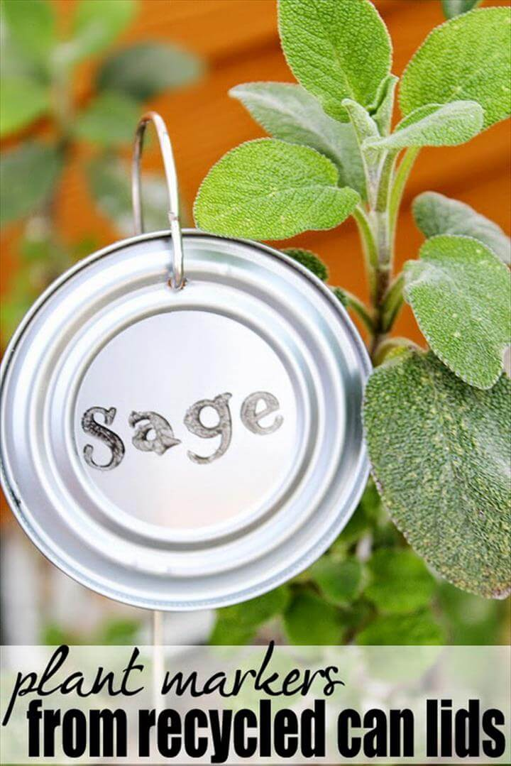 DIY Recycled Tin Can Garden Markers