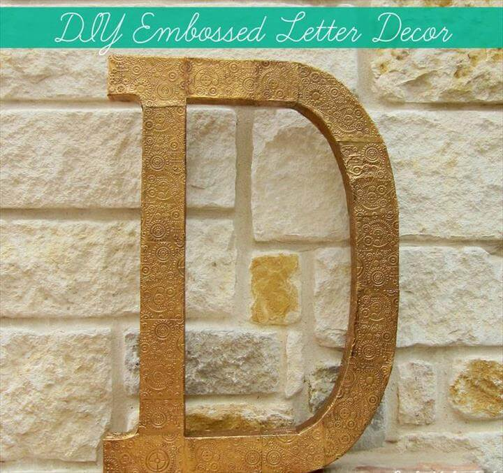 DIY Embossed Monogram Letter Decor