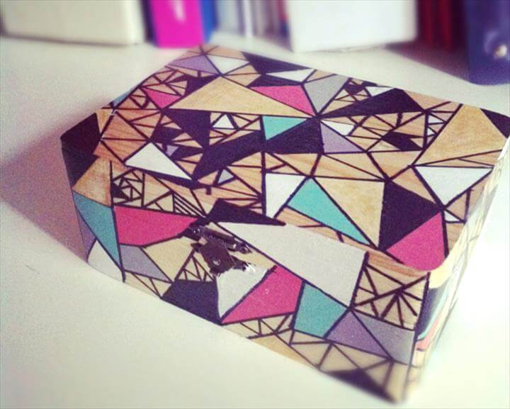 DIY Jewelry Box Ideas By Angela Jordanovska Published on October 2, 2014 Share Tweet Comment Colorful Geometric Jewelry Box