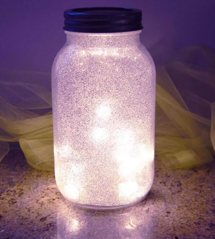 Glitter Fairy Mason Jar Light