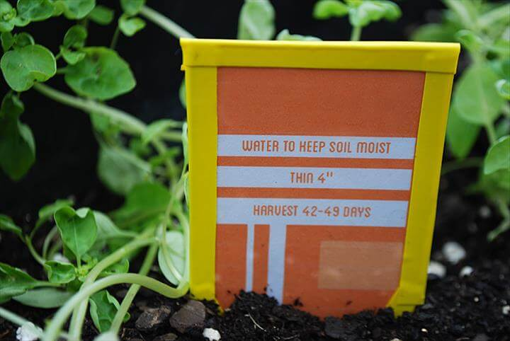 DIY plant markers green recycled Earth Day