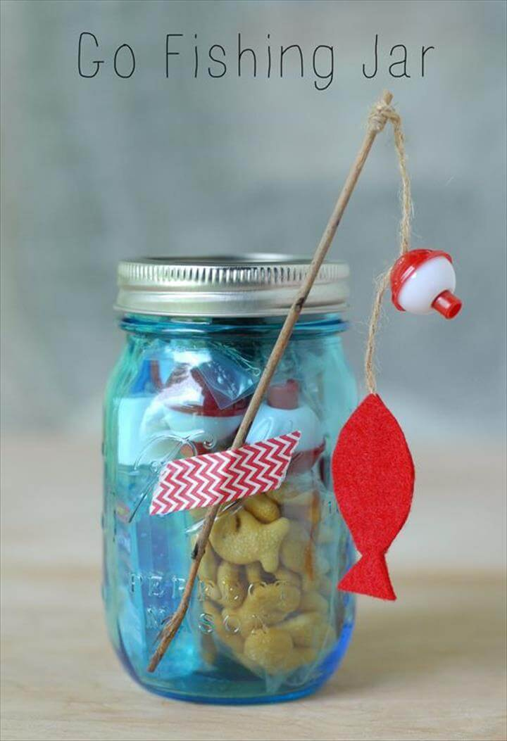 Go Fishing Mason Jar Gift