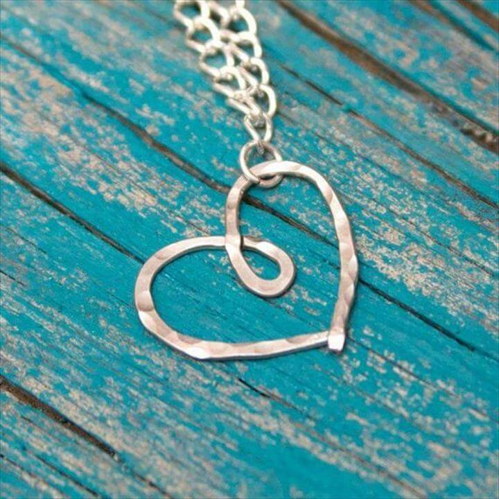 Hammered Heart Necklace DIY