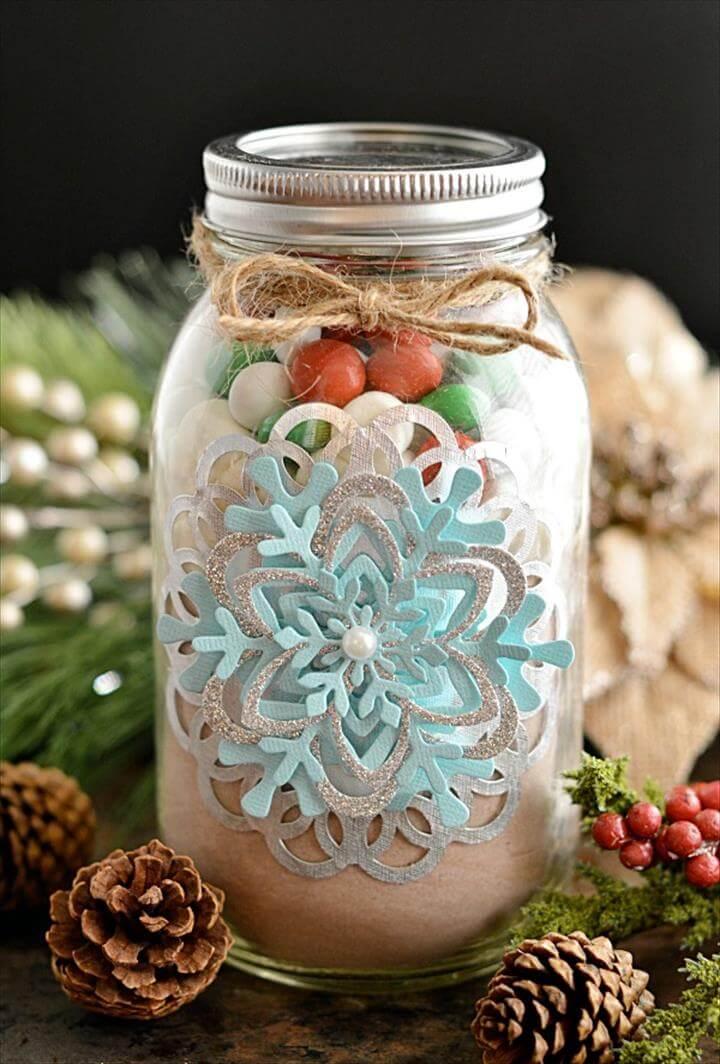 Hot Cocoa Mason Jar Gift
