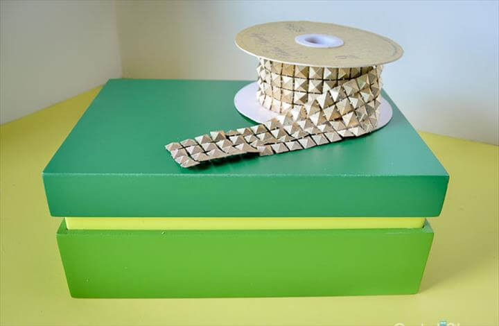 Jewelry box created from Target clearance box - check out the before!