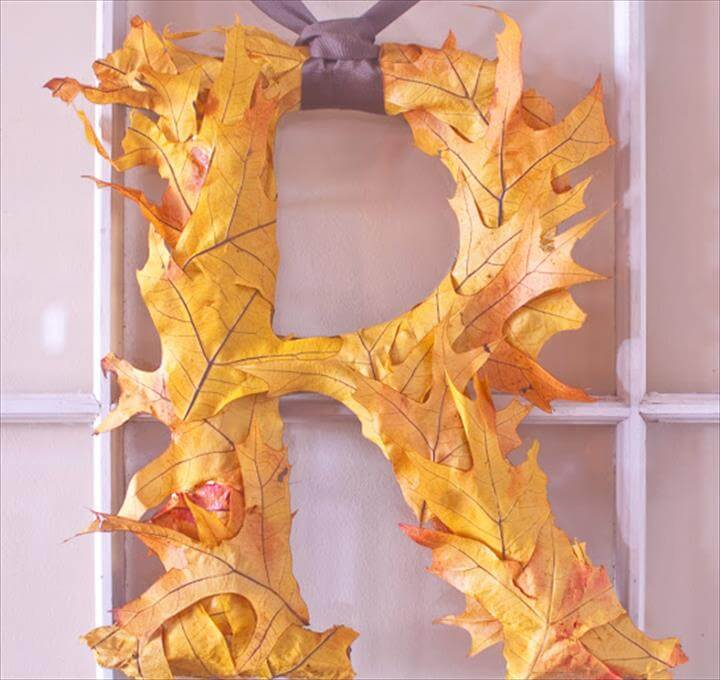 leaves covered letters