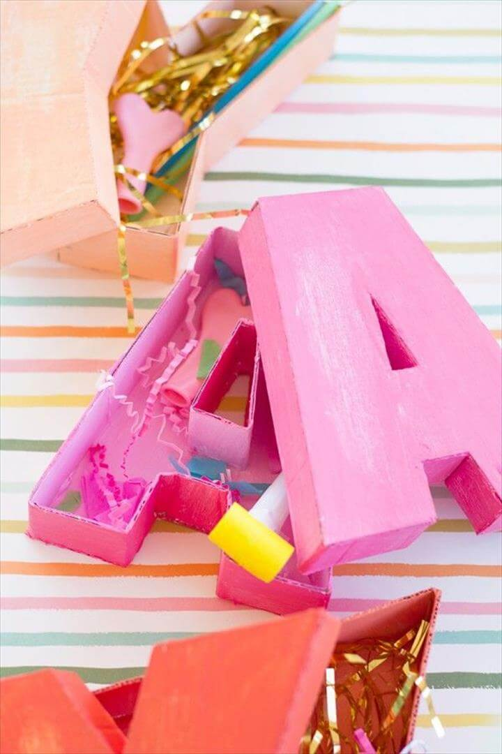 Letter Shaped Boxes with Kelly from Studio DIY