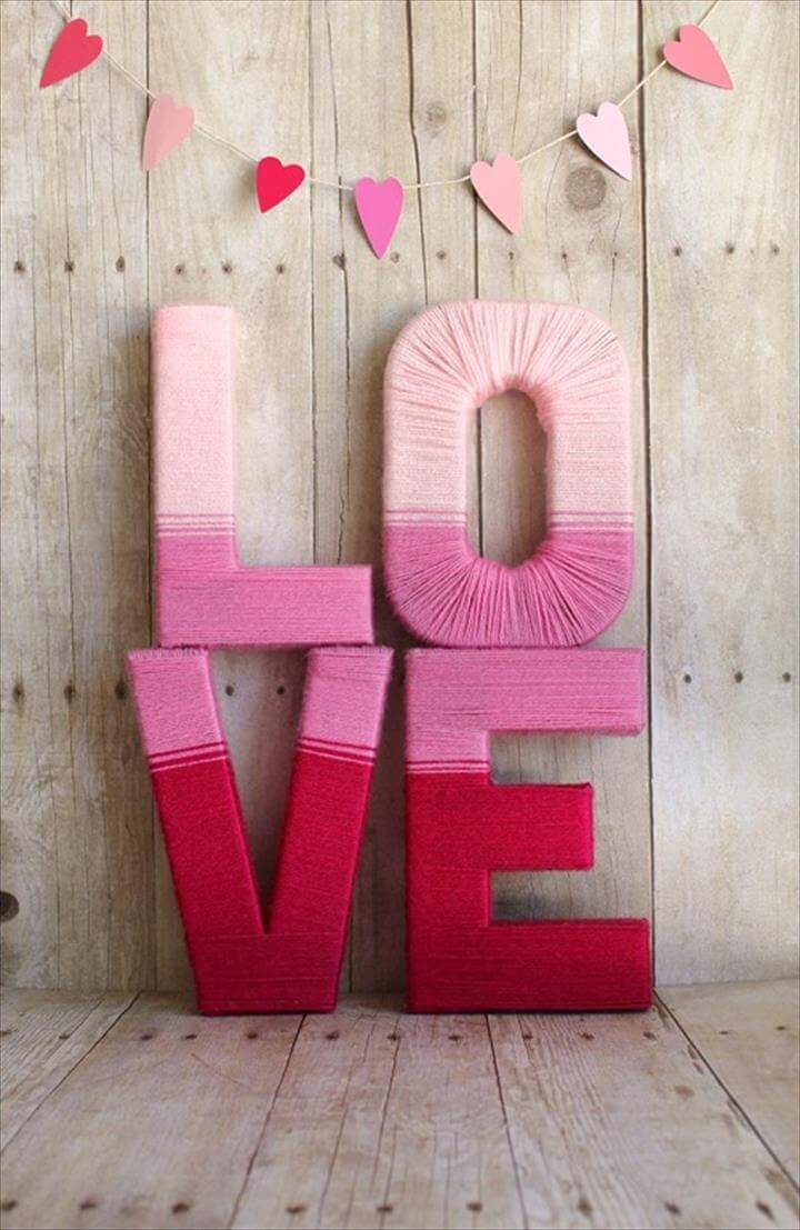 Letter Standees Hombre Effect DIY Craft Ideas