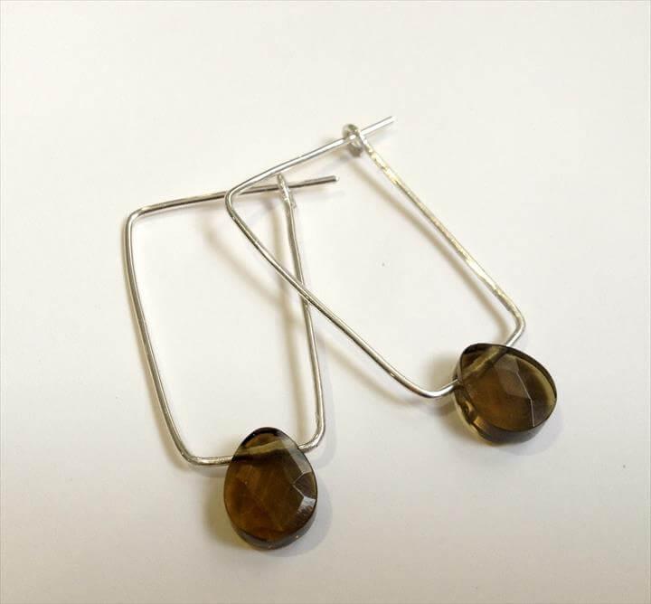 DIY minimal rectangular earrings