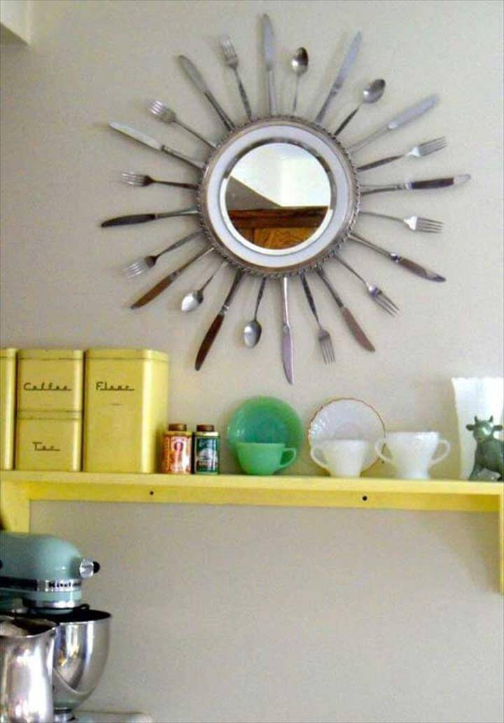 craft ideas DIY craft ideas old of kitchen stuff tray cutlery