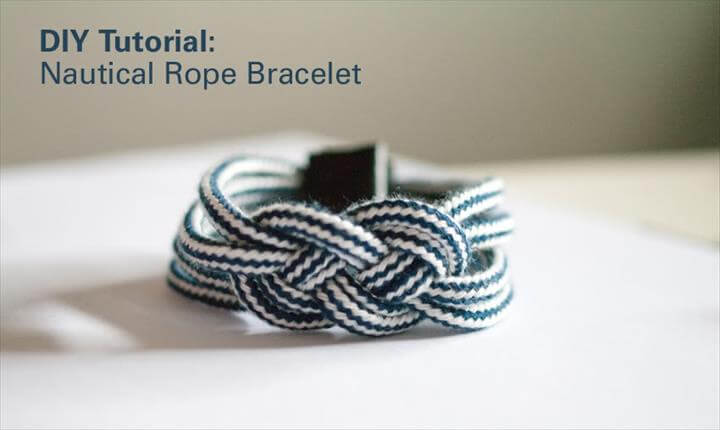 Nautical Rope Bracelet Tutorial