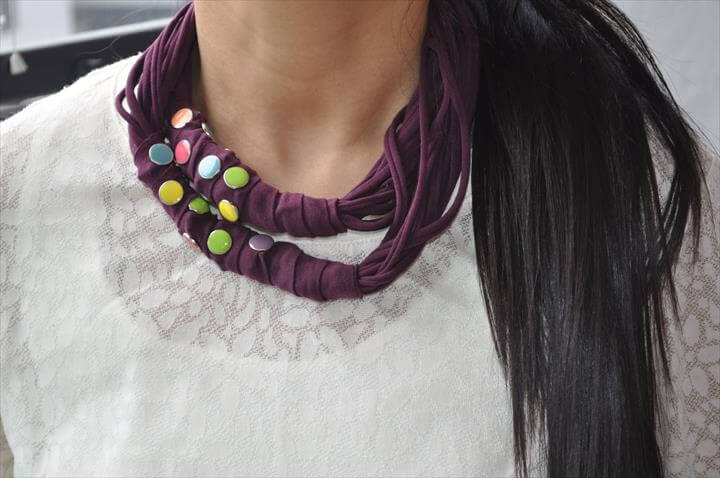 Necklace from an old T shirt