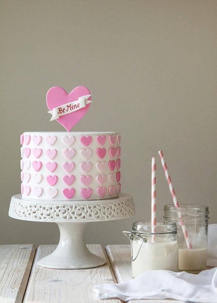 DIY Ombre Heart Cake