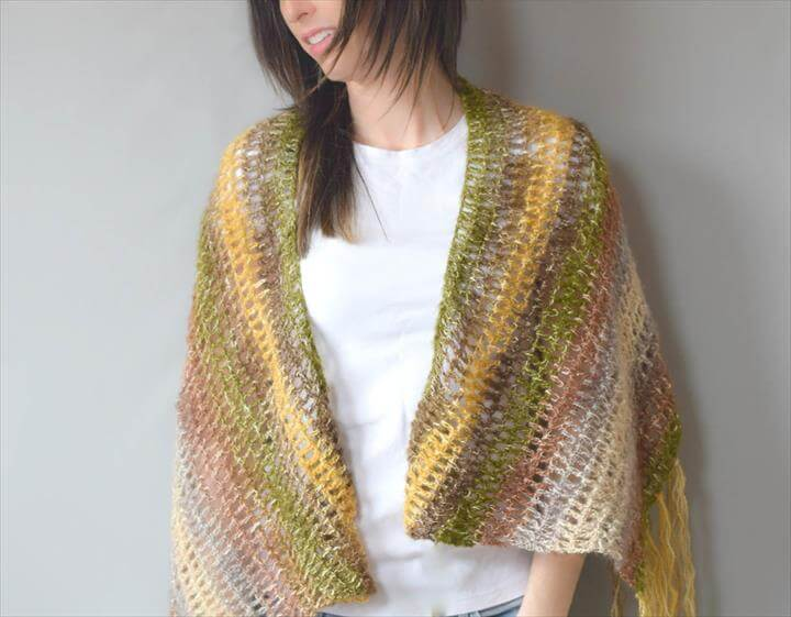 One SkeinDouble Crochet Shawl Pattern