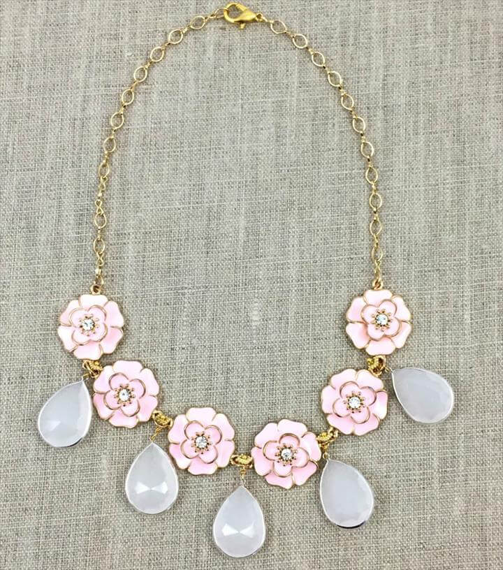 A Pink Posies Necklace
