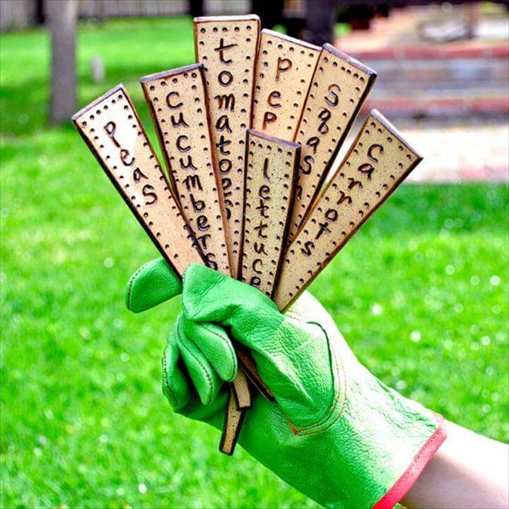 plant markers ceramic veggie garden stakes
