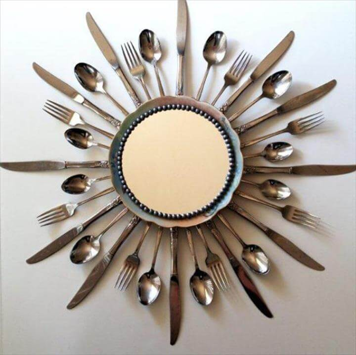 Recycled Cutlery Decorations