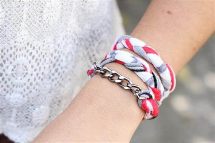 Recycled T-Shirts Bracelet