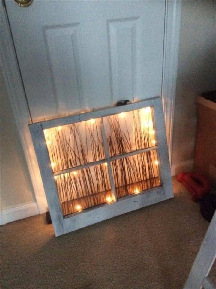 DIY Lighting Ideas for Teen and Kids Rooms - Repurposed Window Nightlight - Fun DIY Lights