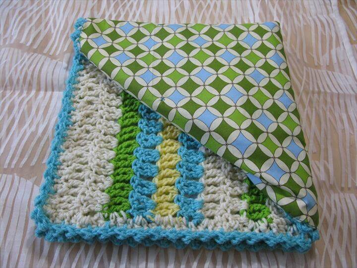 Reversible Crochet Baby Blanket Tutorial: