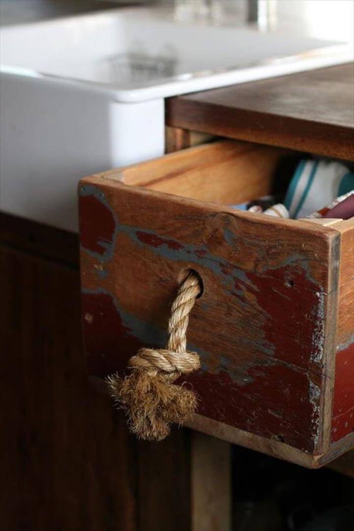 clever rope drawer handle