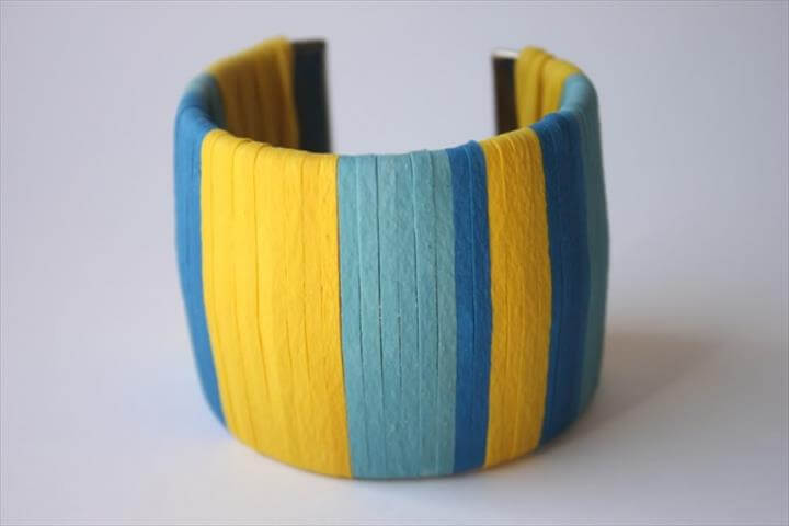 DIY rubber band wrapped cuff