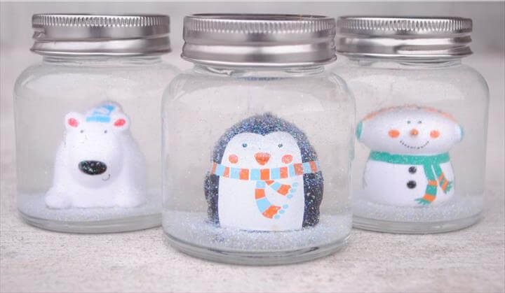 DIY Snow Globes for Kids