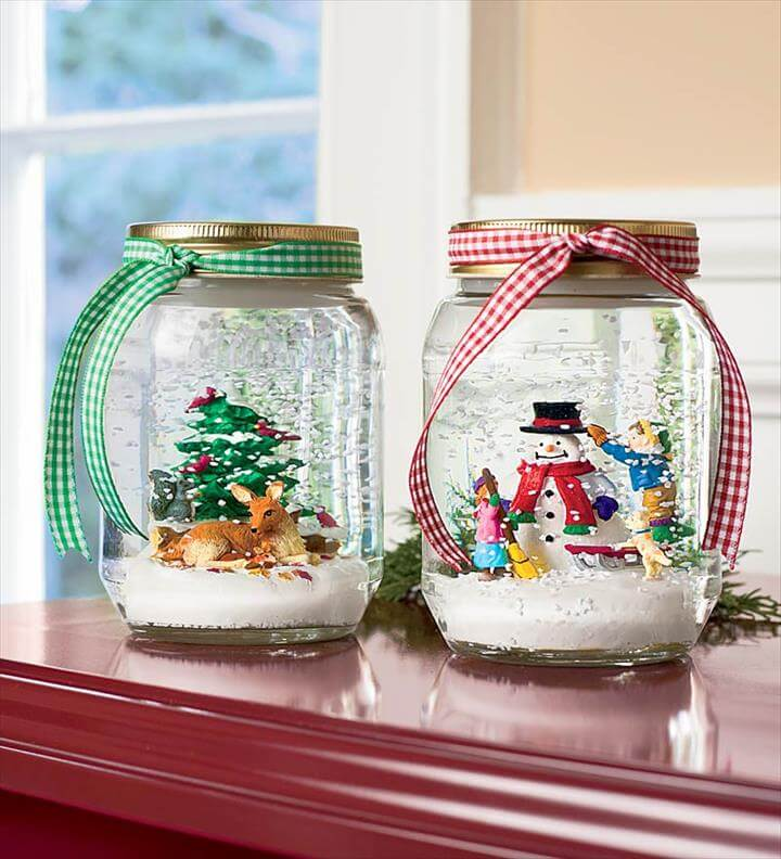 Snow globe gift idea.