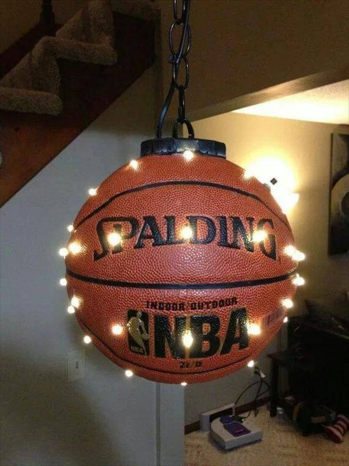 Hanging Basketball LED would be great for a sports room, boys room, or man