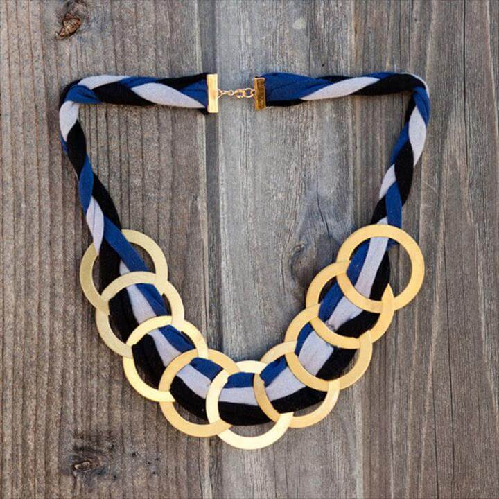 Brass Ring Statement Necklace