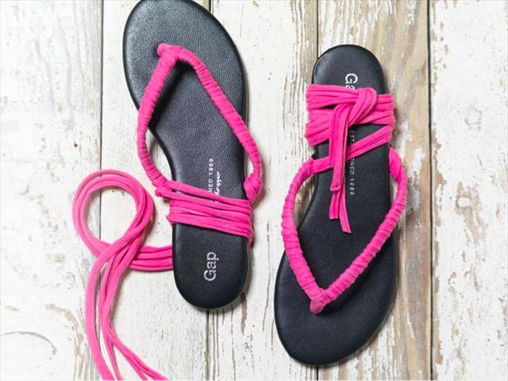 Recycled T-Shirt Flip-Flops