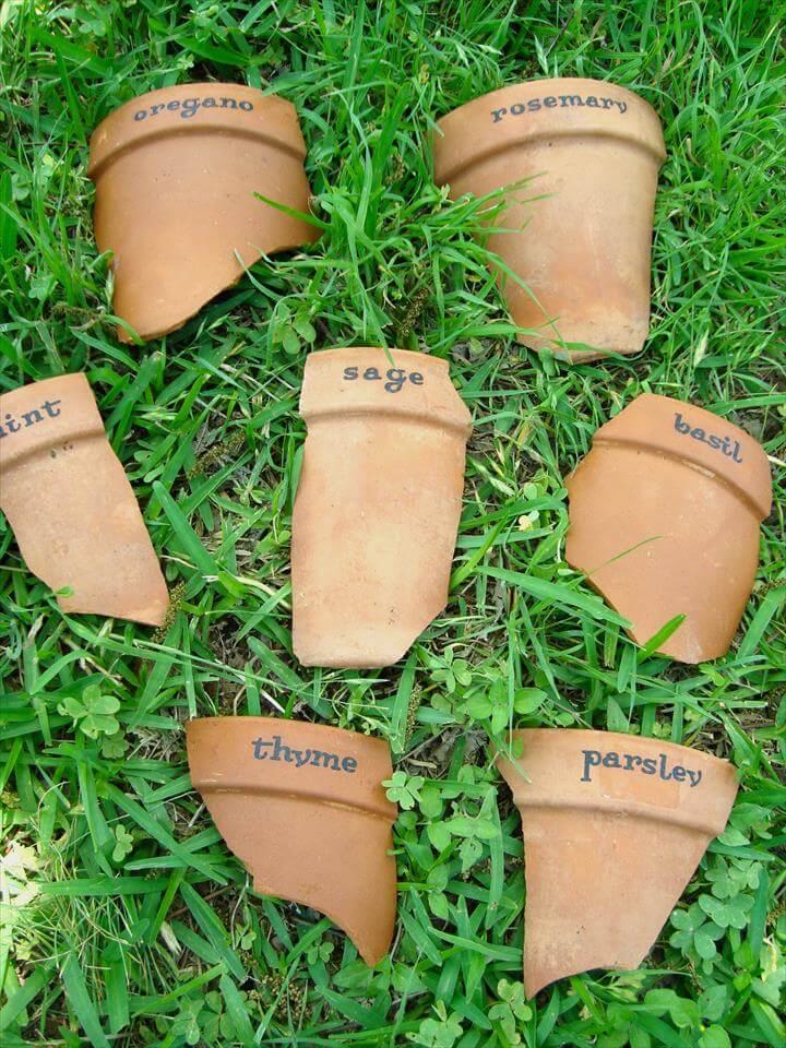 Terracotta pot markers