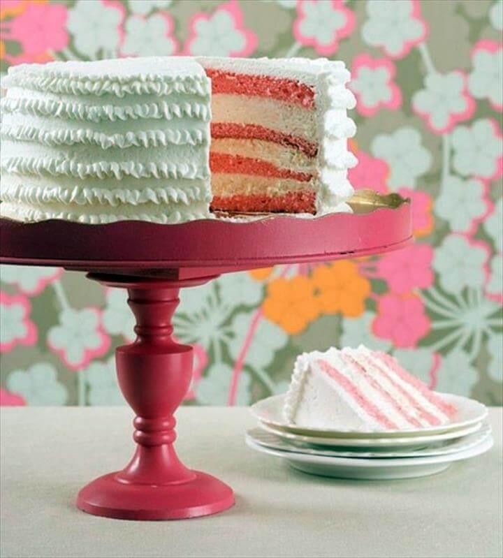 Sturdy cake stand in pink DIY Deko - Tortenetagere - amazing DIY cake stand