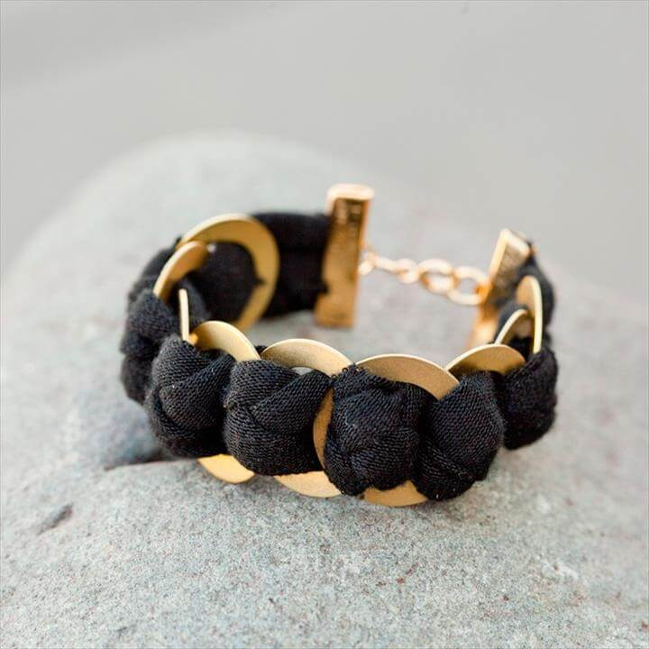 Chunky Brass Ring Bracelet
