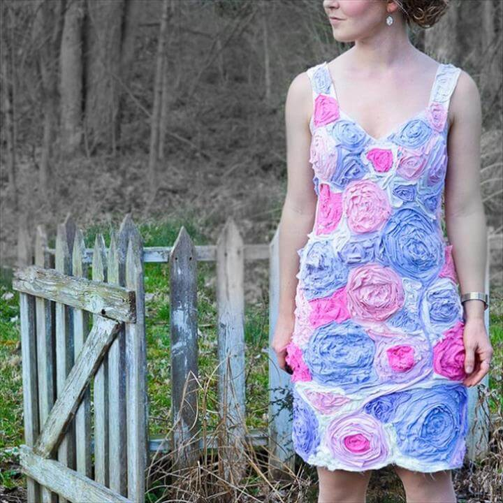 DIY: T-Shirt Flower Dress