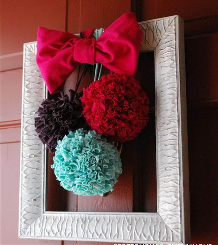 DIY T shirt Pom Poms. T shirt pom poms are so much more durable than 4 diy ideas with old ...