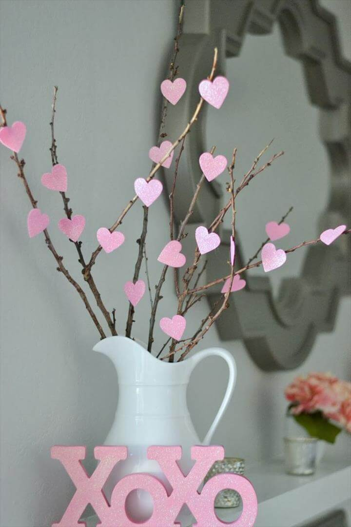 Full size of Valentine's decorations diy heart tree decorative artificial barnches for baby pink paper hearth