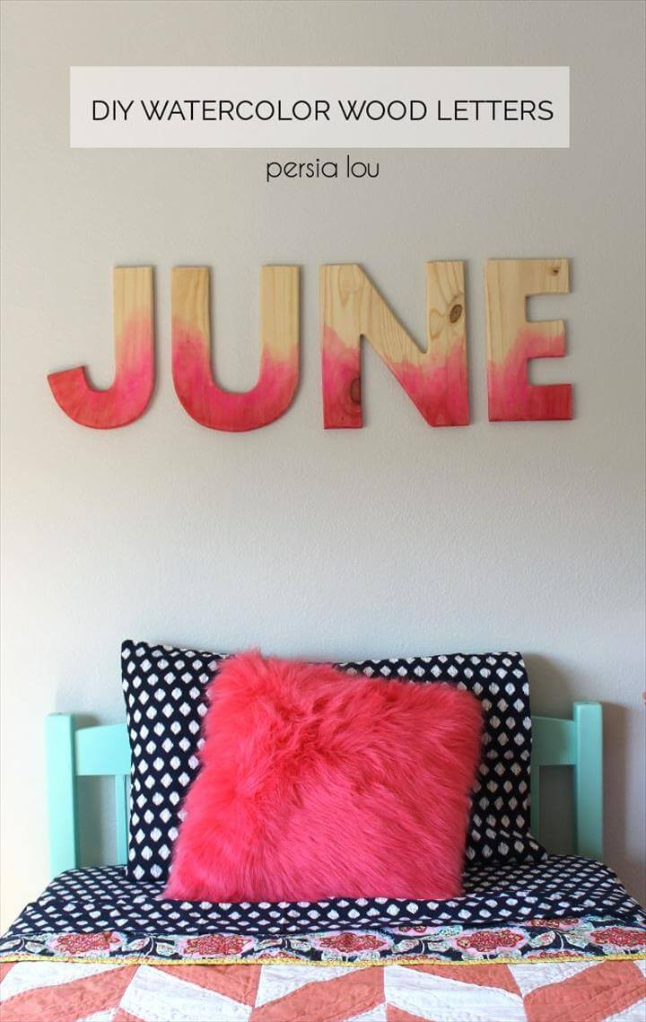 Decorated wooden letters and Painted wood letters