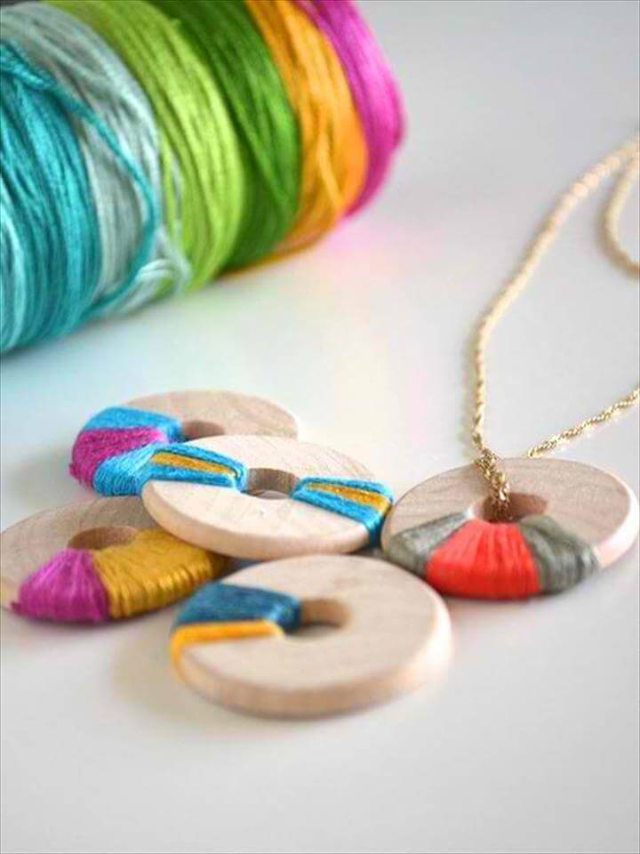 Wooden Necklace. DIY Bobby Pin Earrings
